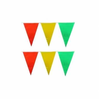 Vlaggenlijnen geel/rood/groen 10 meter