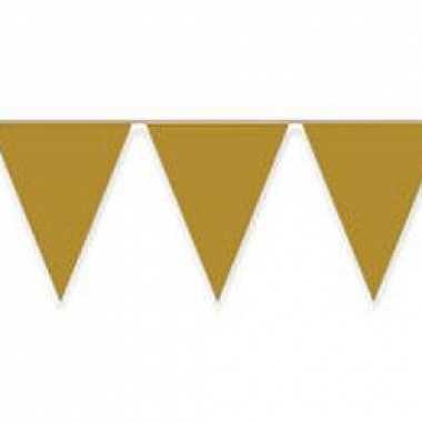 Vlaggenlijnen goudkleurig 10 m