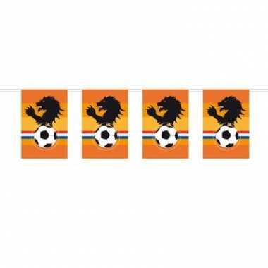 Voetbal vlaggenlijn oranje 10 meter