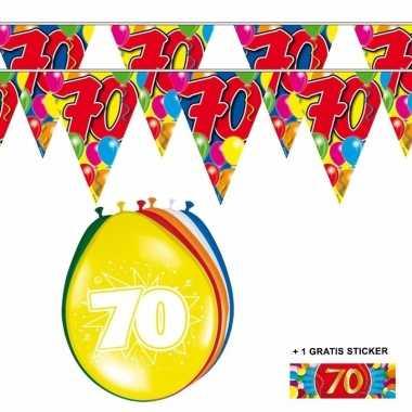 Voordeelset 70 jaar met 2 vlaggenlijnen en ballonnen