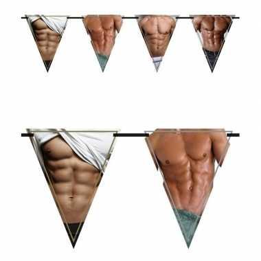 Vrijgezellenfeest vlaggenlijn / slingers torso