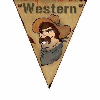 Wilde Westen themafeest vlaggenlijn Western