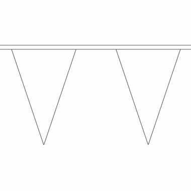 Witte vlaggenlijn van stof 5 m