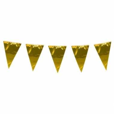 Xxl goudkleurige vlaggenlijn 10 meter