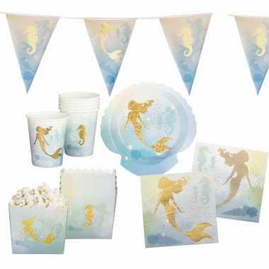 Zeemeermin oceaan print feestje versiering pakket 7 12 personen