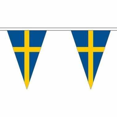 Zweedse vlaggenlijn van stof 20 m