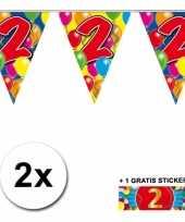 2 jaar vlaggenlijnen 2x met gratis sticker