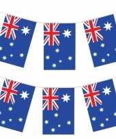 2x australische vlaggenlijnen 4 meter landen decoratie