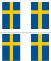 2x stoffen vlaggenlijnen zweden 3 meter