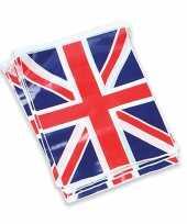 2x stuks groot brittannie vlag vlaggenlijnen slingers 7 meter
