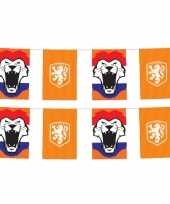 2x stuks oranje knvb vlaggenlijnen 3 meter