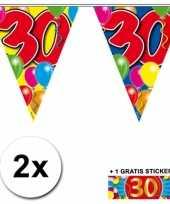 30 jaar vlaggenlijnen 2x met gratis sticker