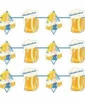 3x beierse bayern print slinger met bier 10 meter feestversiering