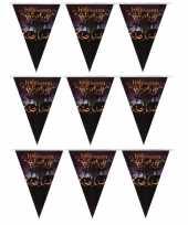 3x halloween feest vlaggenlijnen pompoenen 250 cm