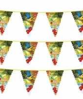 3x hawaii thema vlaggenlijn met grote vlaggetjes