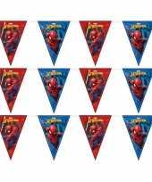 3x marvel spiderman vlaggenlijnen kinderverjaardag
