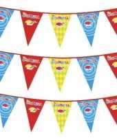 3x plastic carnaval vlaggenlijnen