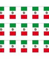 3x stuks papieren feest slinger vlaggetjes mexico 4 meter