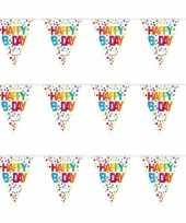 3x stuks verjaardag vlaggenlijnen b day happy birthday 10 meter