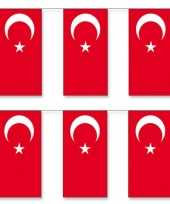 3x stuks vlaggenlijnen turkije 5 meter