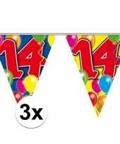 3x vlaggenlijn 14 jaar 10 meter