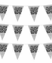 3x zilveren jubileum verjaardag bruiloft vlaggenlijnen 25 jaar 8 meter