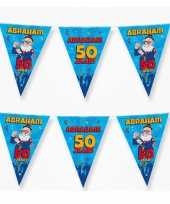 3xx vlaggenlijnen 50 jaar abraham versiering decoratie 10 meter