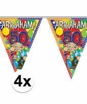 4x stuks abraham vlaggenlijnen van 10 meter
