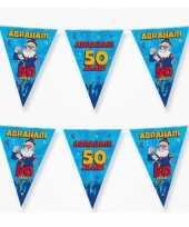4x vlaggenlijnen 50 jaar abraham versiering decoratie 10 meter
