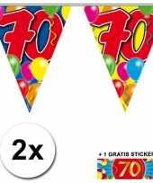 70 jaar vlaggenlijnen 2x met gratis sticker