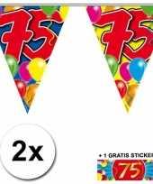 75 jaar vlaggenlijnen 2x met gratis sticker
