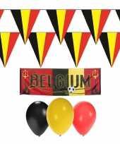 Belgische rode duivels supporter versiering pakket