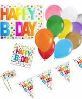 Happy birthday verjaardag versieringen pakket voor elke leeftijd 10274857
