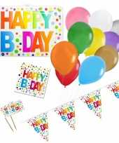 Happy birthday verjaardag versieringen pakket voor elke leeftijd 10274858