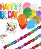 Happy birthday verjaardag versieringen pakket voor elke leeftijd