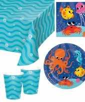 Oceaan print feestje versiering pakket 9 16 personen