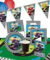 Race formule 1 feestpakket tafeldecoratie versiering 8 personen