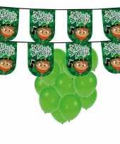 St patricks day feestartikelen versiering met ballonnen en slinger 10102679